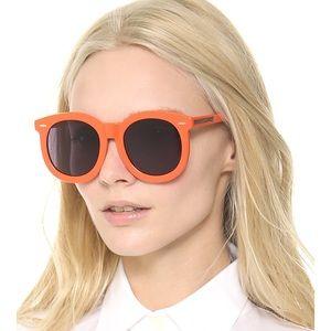 Karen Walker Orange Super Duper Sunglasses